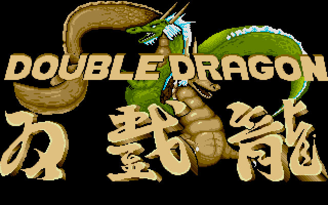 Welcome to Double Dragon! I think this title screen is probably the best part of this game, at least visually. It might've been the first time I saw kanji in any context, come to think of it.