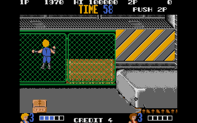 OK, this ass shot is definitely where we should be ending our look at Double Dragon. It's largely the same as the Arcade version, though a few liberties have been taken as you can see.