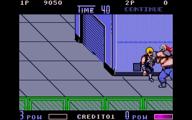 Burnov introduces himself by grabbing you from the edge of the screen and punching you in the face. The bosses in Double Dragon 2 don't mess around.