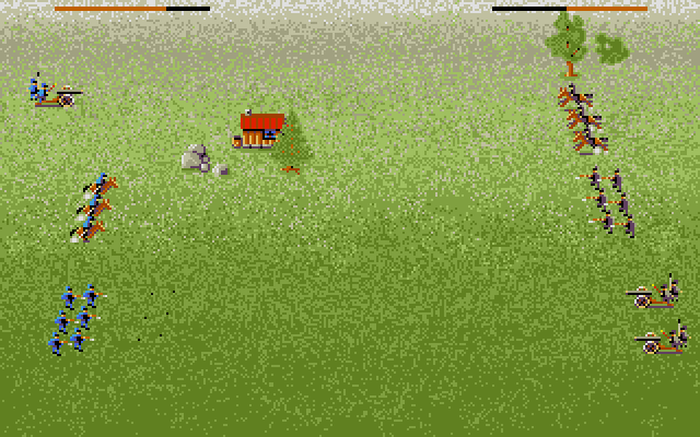 The actual combat in this game has a wonderful simplicity to it. The player can quickly switch between cannons, cavalry and infantry, and each performs a different role on the battlefield. Cannons are devastating, but you need to fill up a power bar to a specific point to hit enemy units a distance away: the amount of precision required in the middle of a battle makes it hard to accurately remove units, especially the fast-moving cavalry, but it's of paramount importance that you remove the enemy's cannons with your own ASAP. The cavalry has no ranged attack, but are very fast and can move in a serpentine fashion to get into melee range of the other unit types. Infantry can fire a barrage of deadly bullets, but they need to get into range and moving infantry forces them in and out of formation, which makes them pretty slow.
