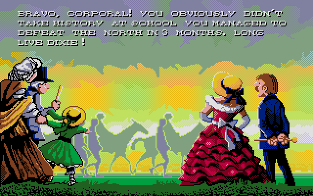 This is a fantastic looking screen, though obviously it carries more than a little melancholy (not to mention historical inaccuracy, which the game is quick to call you out on).