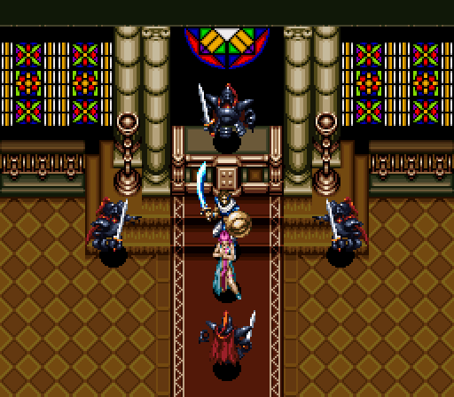 Sure, fighting four undead knights at once is tough, but with Princess Gams here I'm too Alcablessed to be Alcastressed.