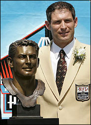 Steve Young at his Hall of Fame ceremony in Canton.