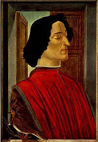 Guiliano de' Medici as portaied by Sandro Botticelli
