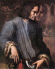 Lorenzo de' Medici as painted by Giorgio Vasari