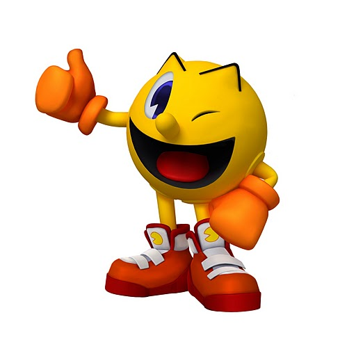 Pac-Man's design in Pac-Man Party