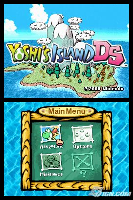 The game's title and menu screen.