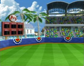 Mario Stadium as seen in Mario Superstar Baseball.