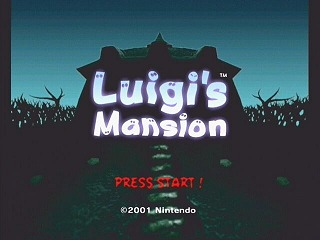 The game's title screen (USA version)