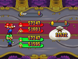Baby Mario and Mario in Mario and Luigi: Partners in Time.