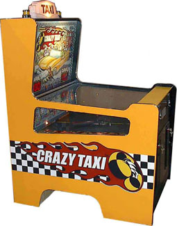 The redemption game version of Crazy Taxi.