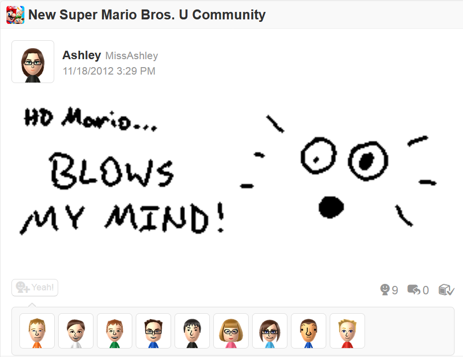 My first Miiverse post.