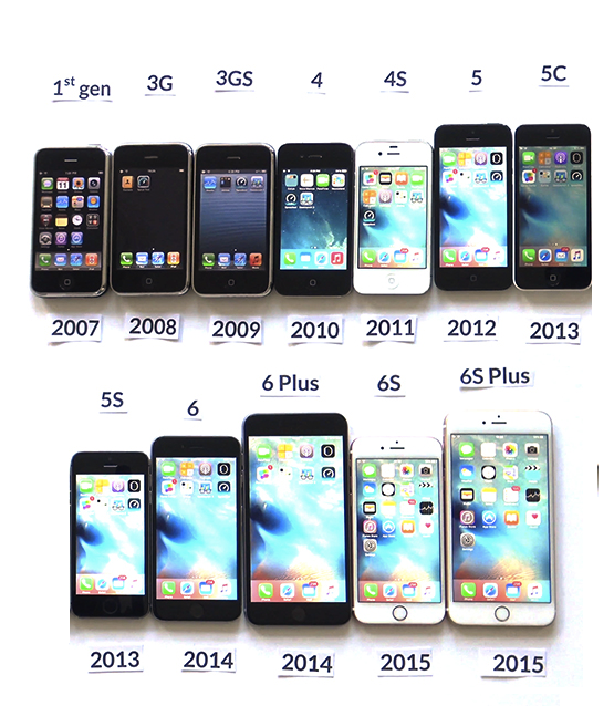 The iPhone has seen 12 models in only eight years. (Photo from the Kent-Meridian High School News Paper. Yes. Really.)
