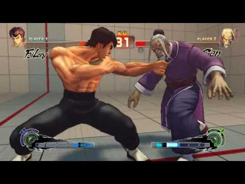 Fei Long about to strike with the One Inch Punch in his Gekirinken Ultra.