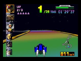 The F-Zero X version of Rainbow Road.