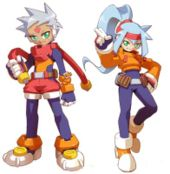 The two protagonists, Grey (left) and Ashe (right).