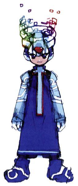 Mega Man X as a Cyber Elf.