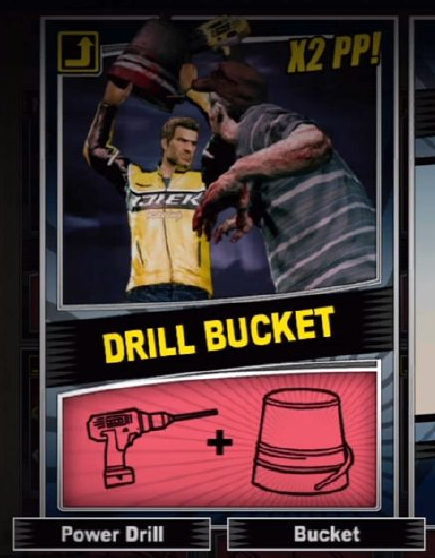 Combo Card featuring the Drill Bucket.