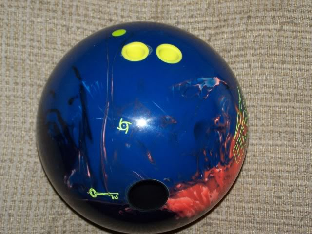 Ball with fingertips. (Yellow circles are the grips)