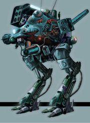 Metal Gear D. Zanzibar Land's Metal Gear unit.