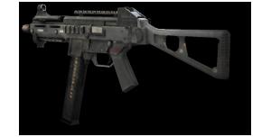 The UMP .45 as it appears in Modern Warfare 2
