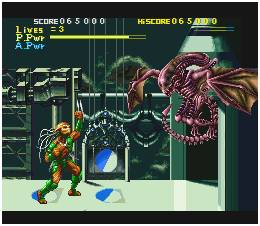 The first game in the franchise pits a Predator against a variety of alien enemies.