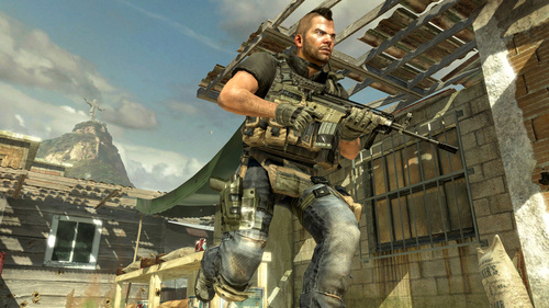 Soap, one of the Call of Duty 4 protagonists, in Modern Warfare 2
