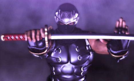 Ryu wielding the Dragon Sword.