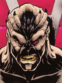 An unmasked Shao Kahn as drawn by John Tobias