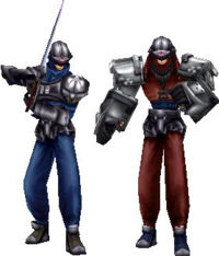 Wedge and Biggs in Final Fantasy VIII