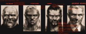 From left to right: Fatman, Fortune, Vamp, President George Sears (Solidus Snake)