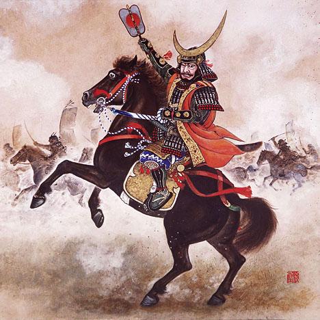 Historical artwork of Masamune Date.