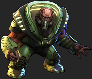 A Muton, as depicted in XCOM: Enemy Unknown.