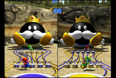 You're the Bob-omb is one of the minigames in the game where 2 players must pick a live switch, which will set off the Bob-omb.