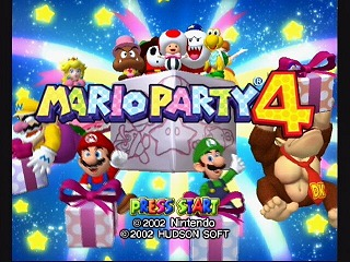 The game's title screen with the entire crew.
