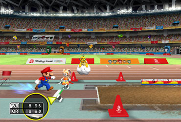 The Long Jump event with Mario.