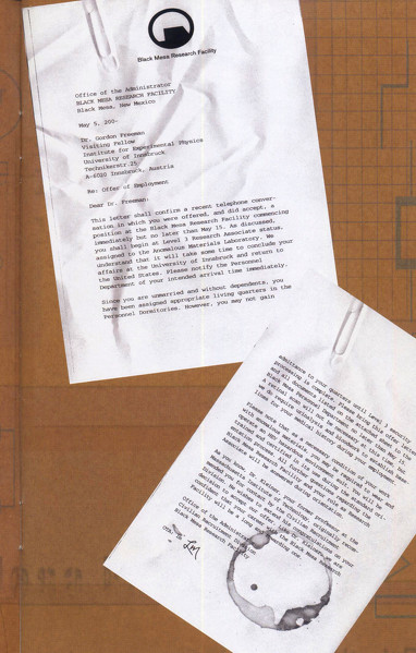 Freeman's letter of acceptance to Black Mesa