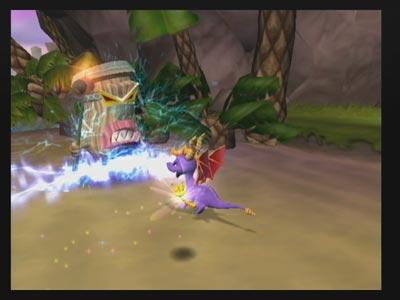 Spyro's lightning breath attack.