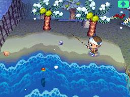 Fishing in the ocean.