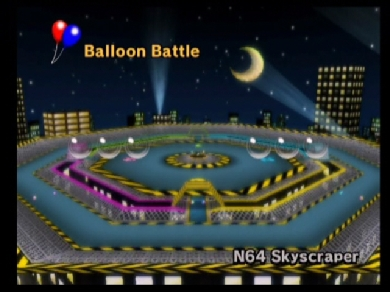 Balloon Battle from Mario Kart Wii.