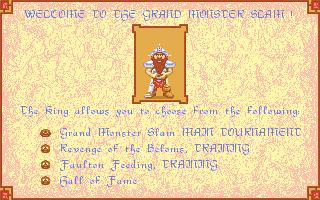 The main menu (Atari ST)