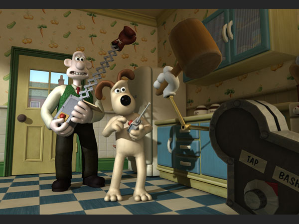 Wallace and Gromit have found popularity in a series of Point-and Click Adventures by Telltale Games.