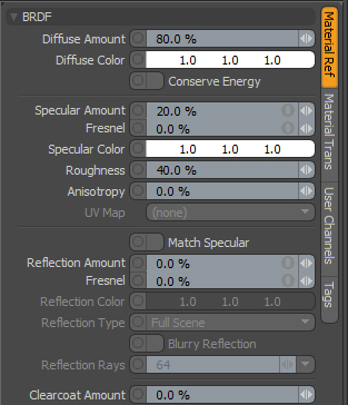 Modo 501's (The program I use) shader editor. Any parameters that went unmentioned are probably not important... Probably.