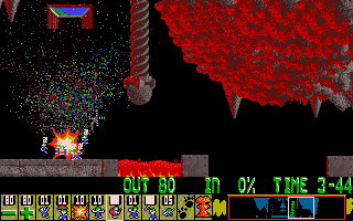 Lemmings being nuked.