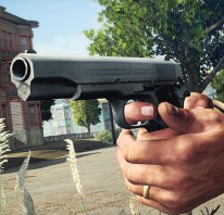 Nickel Plated Pistol