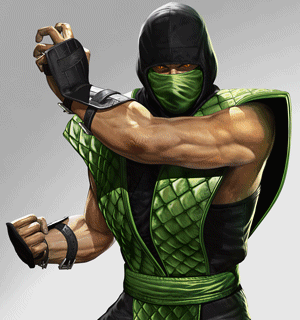 Reptile's classic costume, inspired by his appearance in the original Mortal Kombat.