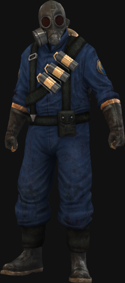 BLU Pyro, given to players during the Team Fortress 2 promotion.