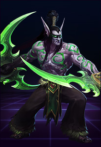 Illidan is a devastating foe in close-ranged combat. You are not prepared.