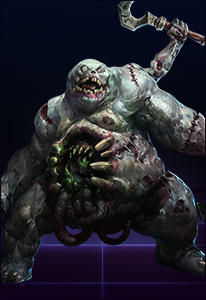 Fans of other MOBAs might recognize Stitches (or his playstyle).