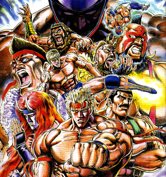 Most of the promotional artwork is from the artist who drew the popular Fist of the North Star manga.